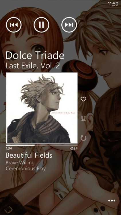 The music from Last Exile is beautiful.