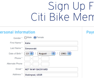 Of course this communist bike share program would use European style dates.