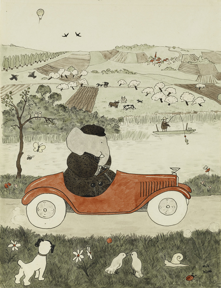 toon-books:  A Babar illustration from Jean de Brunhoff