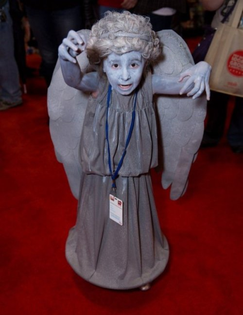 Li'l Weeping Angel Cosplay Don't blink - you'll miss the adorable cosplay!