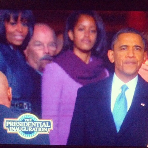 My favorite moment of the inauguration.. He's taking it all in, one last time