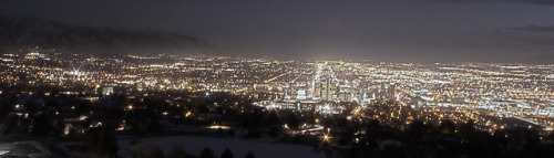 light-is-out:  Salt Lake City at Night on Flickr.
