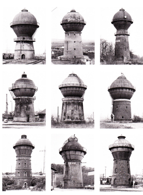busywire:  Water Towers, 1965-82 Bernd & Hilla Becher