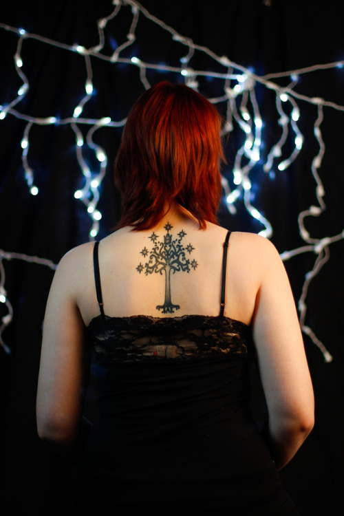 fuckyeahtattoos:  My first tattoo, the White Tree of Gondor from LoTR. Done by Nick at TatFu Tattoo in Flagstaff, AZ. Photo by Ashley Swazey.