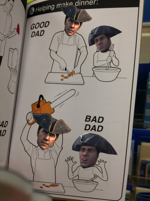 lehlee:  haytham is a good father original : http://wilsonhiggsbury.tumblr.com/post/50531673381/look-what-i-found-at-rite-aid