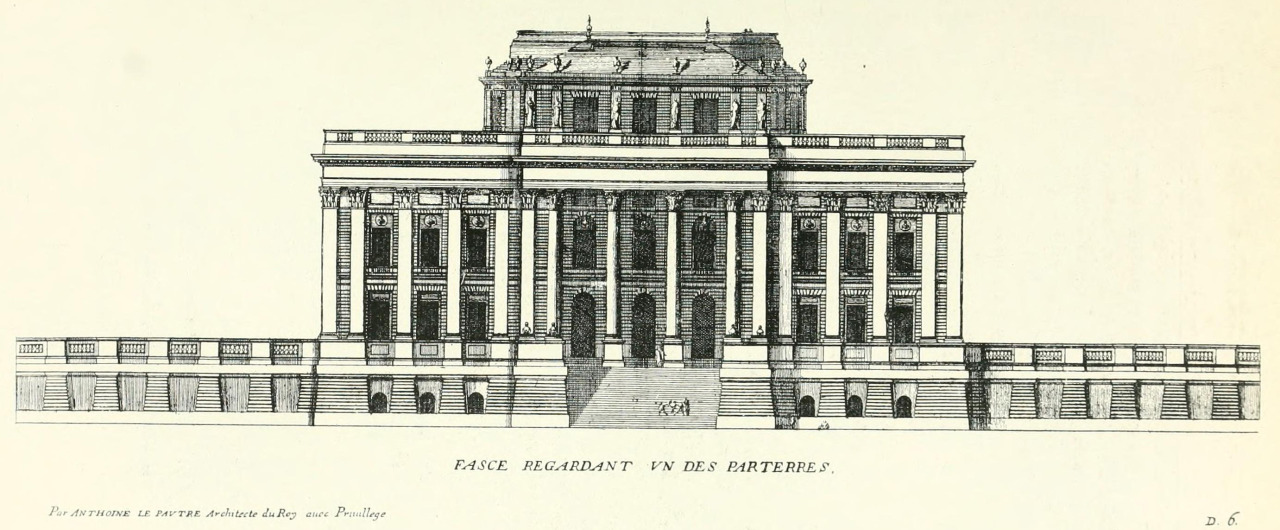 Le Pautre's elevation of a hôtel particulier, Paris
