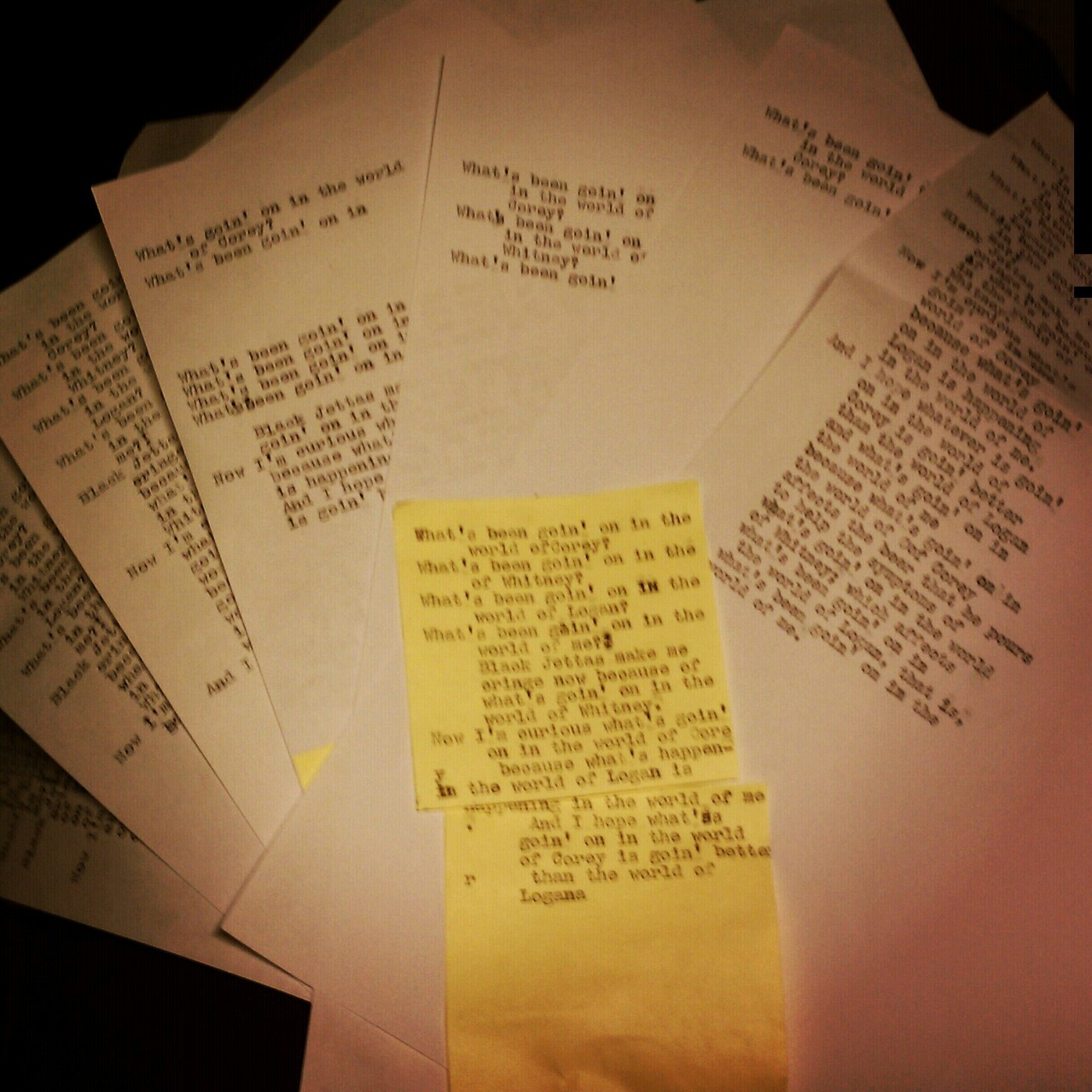 Typewritten rough drafts are the worst kind there are.