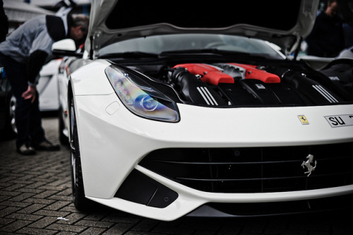 gdbracer:  Ferrari F12 Berlinetta by D.LOS on Flickr. Via Flickr: Big grin on this Ferrari. He should be grinning. Everybody would, if they had a heart with 740bhp. At Viva Italia 2013. Assen, the Netherlands. 19.5.2013