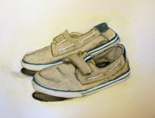 Portfolio work. It's my shoes! I'm sensing a pattern here.