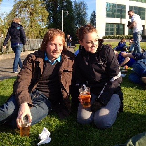 @amullin14 and I drinking in the park before the match… C'mon Leinster! #irfu #amlincup #Leinster