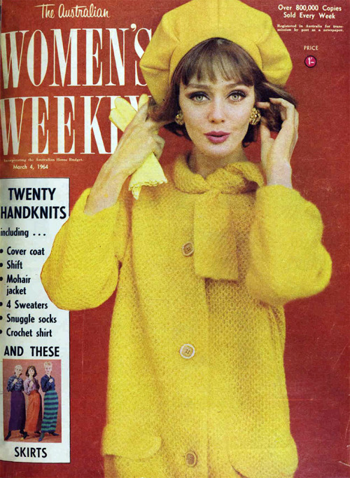 theswinginsixties:  1964 fashion in The Australian Women's Weekly.