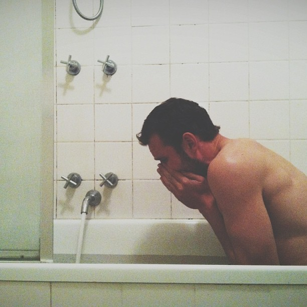 What an ice bath looks like #vscocam #icebath #beau #madman #bath