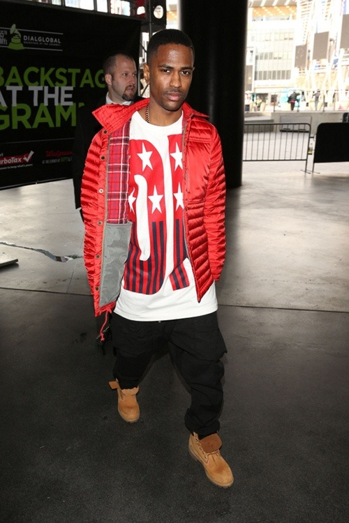 Men's Fashion Flash: Big Sean's Staples Center DKNY x Opening Ceremony Spring '92 Stars and Stripes T
