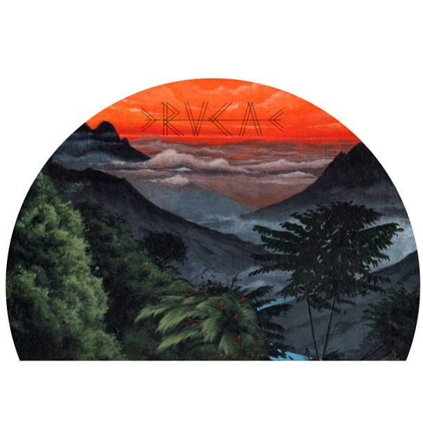 the #Sunrise print by #rvca #ANP artist @jeffmcmillanart  now featured on our #summer baseball tee. #wearableart