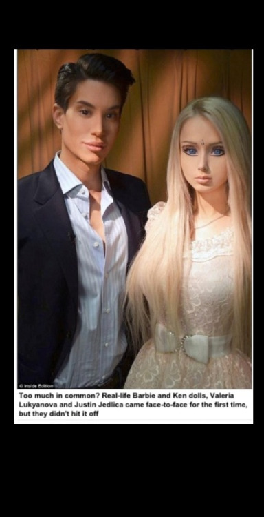 dieyounghaveaprettycorpse:  Creepy real Barbie, has a creepy friend. 😩