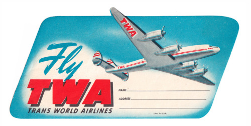simple fun tag from early commercial aviation