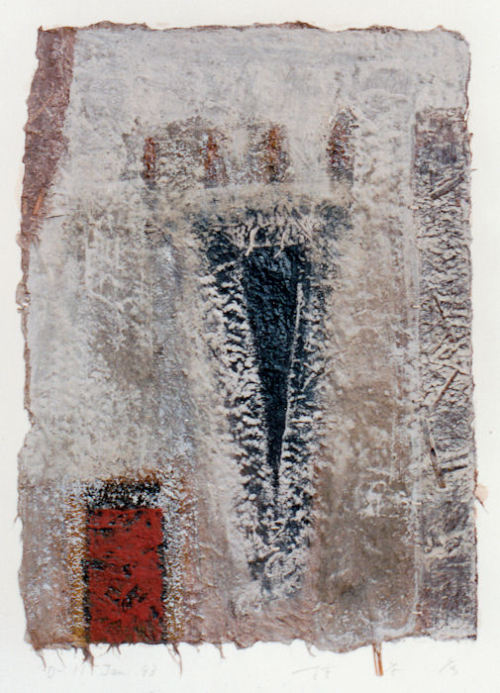 D-11.Jan199343x31.5cmpainting, collage on paper林孝彦 HAYASHI Takahiko 1993
