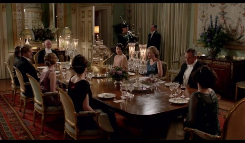 Season three, Christmas special. Bagpipes and extraordinarily fancy lamps.