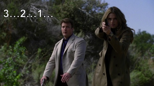 "popculturenexus:  Somewhere here is a movie. Favorite Moments Castle 5x23 ""The Human Factor"""