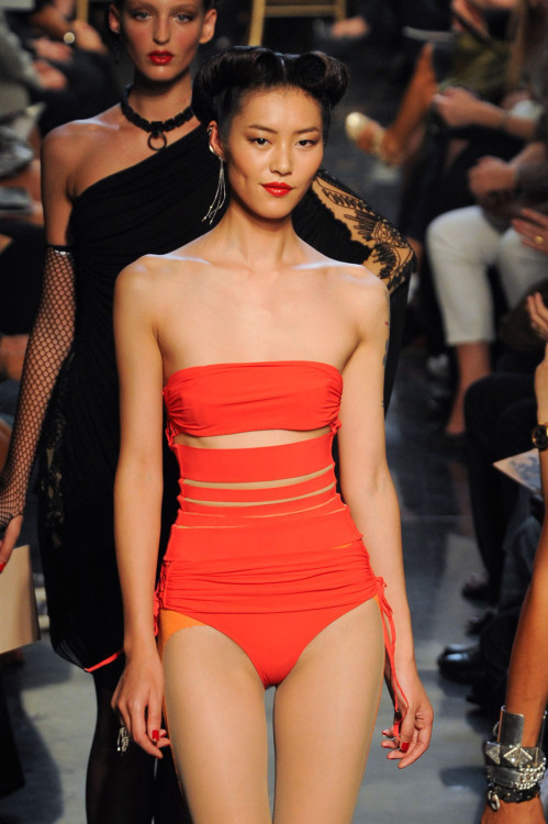 why is she so perfect fashioninquality:  Liu Wen at Jean Paul Gaultier Spring Summer 2012 | PFW
