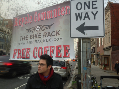 Thanks to The Bike Rack for offering free coffee to brighten up a gloomy morning commute!