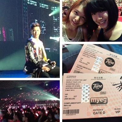 Finally home! Had an amazing time w @vickiyeoh staring at Show Lo's face 😋 #frontrow #hewinkedatus #taiwanesehottie