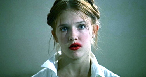 "fohk:""She could fade and wither, I didn't care. I would still go mad with tenderness at the mere sight of her face""Lolita (1997)Adrian Lyne"