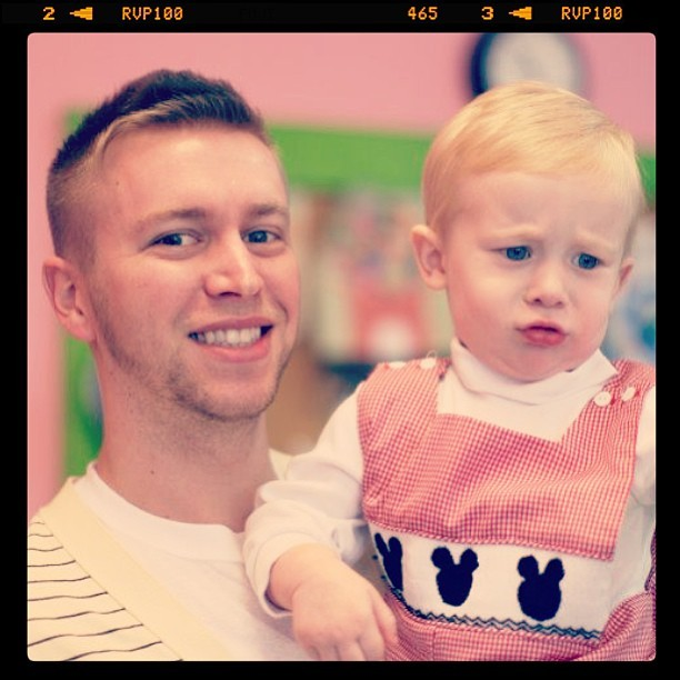 What a grump #photos #me #gay #uncle #guncle #carter #2 #birthday #nephew #mickey #family #love #bff