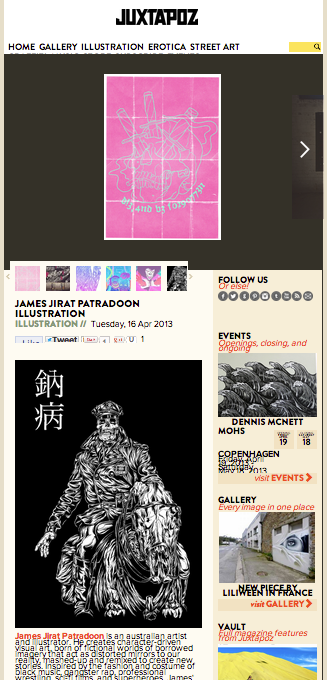 Yeeeooww I'm on Juxtapoz!!!