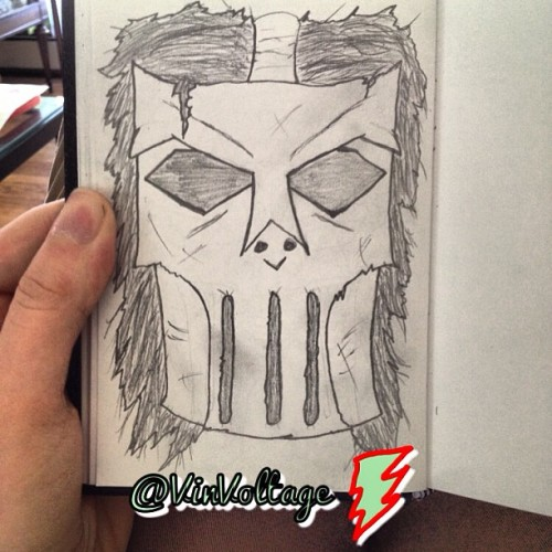 Beware punks! #caseyjones is on the prowl! #tmnt #cartoon #artwork #art #sketch #doodle #doodleart
