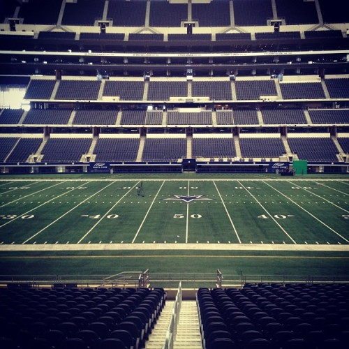 View from the owner's box. (at Cowboys Stadium)