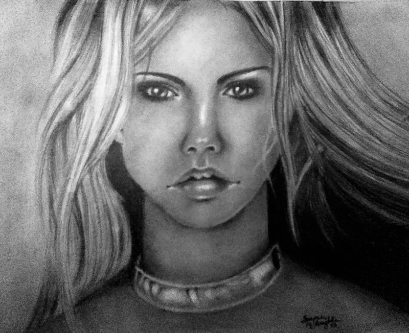 Another one of my portrait drawing's.