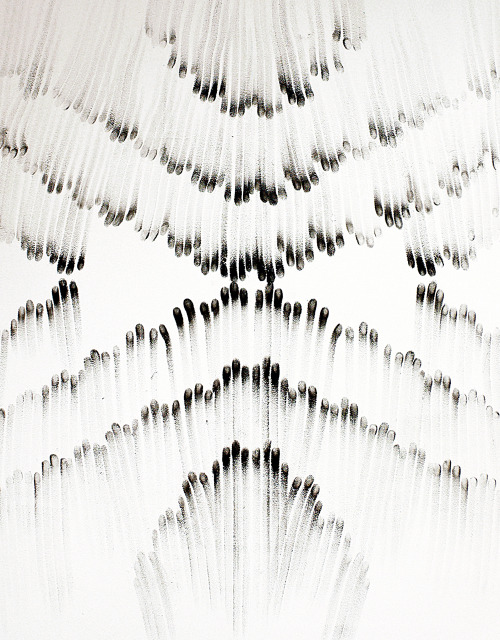 likeafieldmouse:  Judith Braun - Fingerings (2010-12) - Fingers dipped in charcoal
