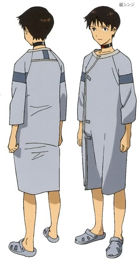 appends:  Shinji Ikari wearing crocs