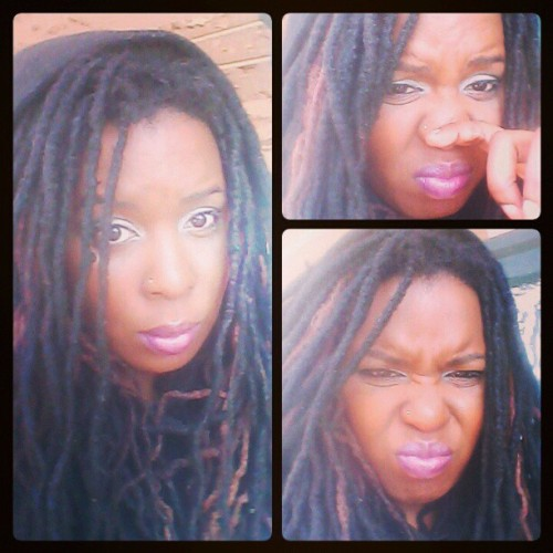Earlier today #hoodup #sniffles #cold #locs #dreadlocks #dreads #hair