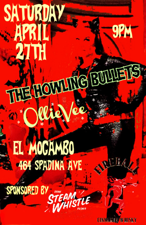 Live at the legendary el Mocambo on April 27th!