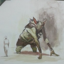 Watercolor study from #theskillfullhuntsman #conceptart #giant #art #sketchparty  #painting #watercolor