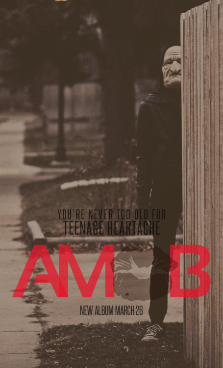 Today marks two weeks that AMoB's You're Never Too Old for Teenage Heartache has been available to the world!  Isn't that rad?  In celebration of the 2 week anniversary, let's all take a moment to share our favorite track on the album.  I'll go first, it's a very hard decision for me to make, but I would have to say my favorite track on the album is Gutters. What's yours?