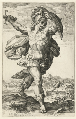 Hendrick Goltzius Horatius Cocles, from the series The Roman Heroes. c. 1586