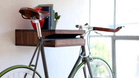 Bike support stand / book shelter