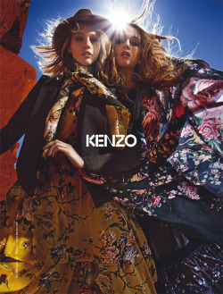 Sasha Pivovarova and Lily Donaldson by Mario Sorrenti for Kenzo F/W 2010-11 campaign.