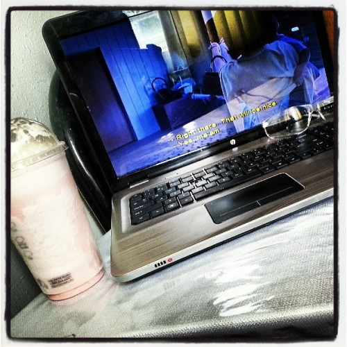 A lil entertainment for this afternoon… #movie The Help #milkshake #HP pavilion dv 7 #dre #beats