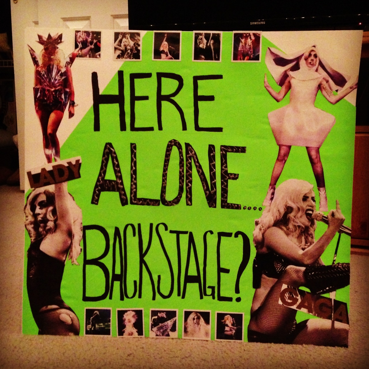 "fuckyeahladygaga:  Just finished my poster for the BTWBall!! 39 DAYS TO GO.  ^^ SO JEALOUS….I didnt get tickets for her new tour D"""""""""""":"