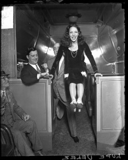 Actress Lupe Velez in a passenger train car, 1929, Chicago, Illinois. Photograph by Chicago Daily News.  Want a copy of this photo?  > Visit our Rights and Reproductions Department and give them this number: DN-0088251 Connect with the Museum