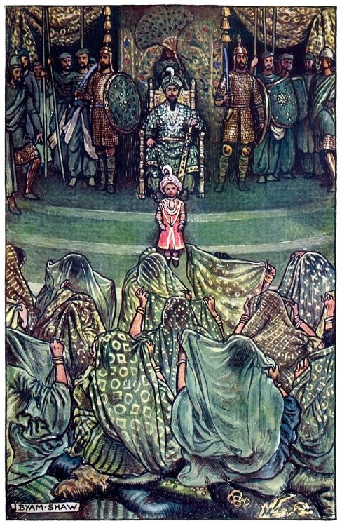 Ladies! Unveil!  Byam Shaw, from The adventures of Akbar, by Flora Annie Steel, London, 1913.  (Source: archive.org)