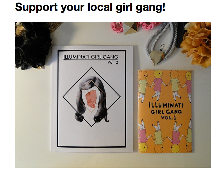 Allison Lynn blogged about zine culture and Illuminati Girl Gang  One of the primary benefits of these zines is their ability to give women a forum for discussing their ideas, stories, and struggles.  While anyone can use the Internet to create a blog, post writing, and practice poetry, the existence of the publications facilitates the emergence of a feminist writing community that affirms its members, supports their work, and distributes their art.