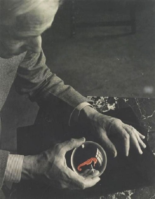 regardintemporel:  Josef Breitenbach - Max Ernst and the Seahorse, New York, 1942