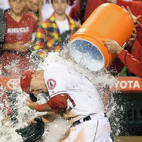 nosebleedhooligans:  Angels CF Mike Trout was like fish in water against the Seattle Mariners last night. He was, in many symbolic ways, home.  Trout became the youngest American League player to hit for the cycle, the third youngest since 1930 to do so.  After homering in the eighth, Trout became the sixth Angel to single, double, triple and homer in a game. Chone Figgins, who last played for the Mariners, did it last in 2006.