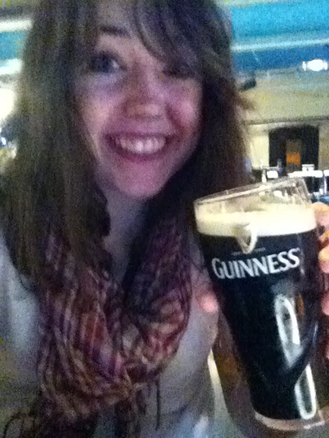 Guinness storehouse and the pint I filled myself!