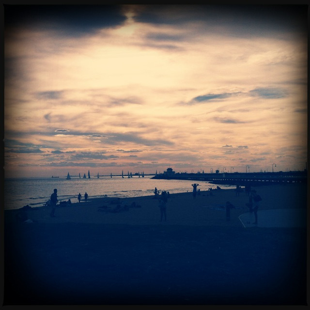 St kilda beach on Flickr.